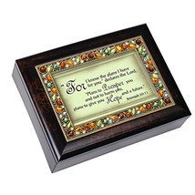 Cottage Garden Know The Plans for You Amber Earth Tone Jewelry Music Box... - $51.21