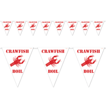 "Beistle Party Decoration Crawfish Boil Pennant Banner 11"" x 12' -12 Pack... - $41.57"