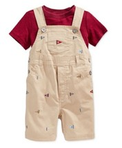 First Impressions Baby Boys' 2-Piece Shortall & T-Shirt Set,Size 24 M,MS... - $18.80