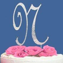 Fully Covered in Crystal Monogram Wedding Cake Topper Letter - Letter N - $14.49