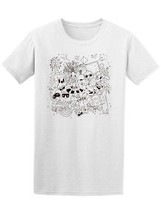 Summer Time Doodles B&W Men's Tee -Image by Shutterstock - $9.86+