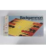 Backgammon Acey Deucy Board Game 1973 Milton Bradley - $9.49