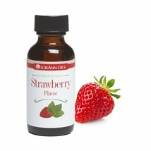 LorAnn Super Strength Strawberry Flavor 1 oz bottle Threaded Glass Dropper - $10.15