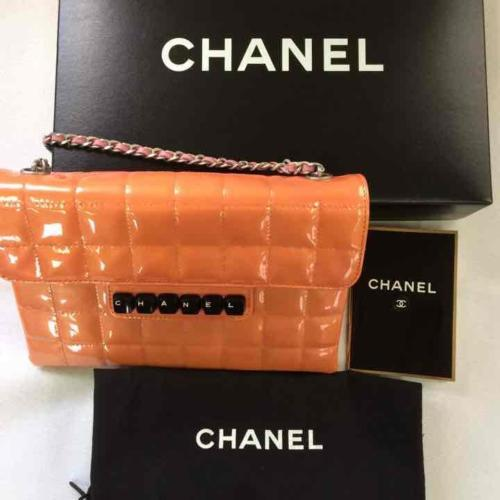 520227af077d Auth CHANEL Chain Shoulder Bag Orange and 10 similar items. 12