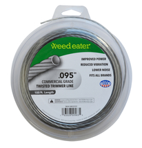 Weed Eater .095 Inch Commercial Grade Twisted Trimmer Line, 100 Feet - $14.95