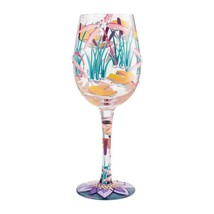 """Elegant Dragonfly Magic """"Designs by Lolita"""" Wine Glass 15 o.z. 9""""  Gift Boxed image 2"""