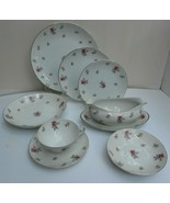 29 pc Meito Rose Chintz Moss DINNERWARE DINNER PLATE SOUP BOWLs cup grav... - $243.53