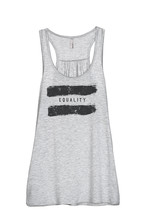 Thread Tank Equality Women's Sleeveless Flowy Racerback Tank Top Sport Grey - $24.99+