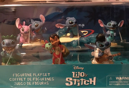 Disney Parks Stitch 6 Figure Set All His Routines - $17.82
