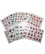 Nail Art Water Transfer Stickers Flower Butterfly Birds Heart Nail Wraps - $2.60