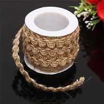 5M Natural Hessian Rope Burlap Ribbon DIY Craft Vintage Wedding Party Ho... - $13.99