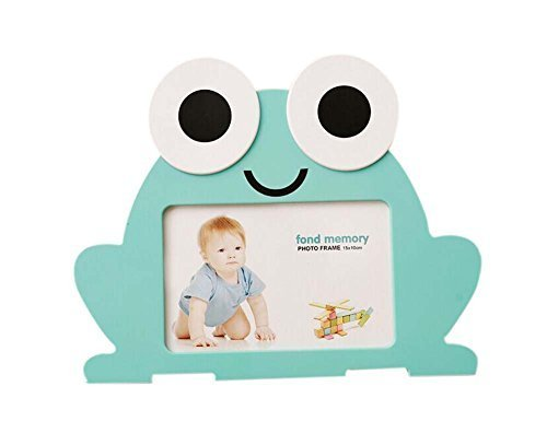 6 inch Creative Cartoon Cute Baby Photo Frame Blue Frog Models