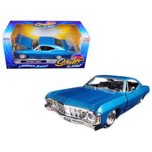 1967 Chevrolet Impala Blue Lowrider Series Street Low 1/24 Diecast Model... - $36.32