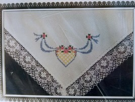The Design Connection Counted Cross Stitch 18 x 18 Bread Cover Sal Em Cloth - $17.00
