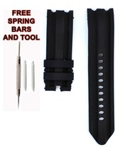 Similar Nautica A15564G 24mm Black Diver Rubber Watch Strap Band NTC114 - $22.77