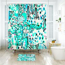 Flower Lilly Pattern 03 Shower Curtain Waterproof & Bath Mat For Bathroom - $15.30+