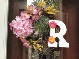 Monogram Flower Wreath - $55.00