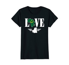 I love Mauritania flag map Africa map t-shirt - $19.99+
