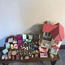 Vintage Epoch Dollhouse Calico Critters Furniture Lil Woodzeez Sanrio Lot - $83.16