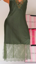 VS VICTORIA'S SECRET Lingerie Midi ~Babydoll ~Chemise V-Neck Lace Trim ~... - $25.99
