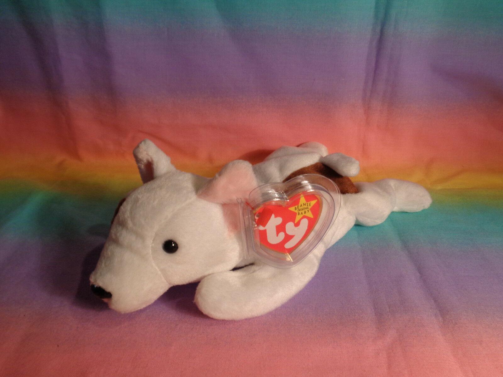 Vintage 1999 Ty Beanie Baby Butch Dog Bean Bag Plush w/ Tags