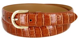 Women's Skinny Alligator Embossed Leather Casual Dress Belt with Buckle 7035 ... - $6.92