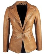 Classic women leather blazer - $170.00+