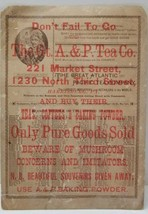 The Great Atlantic & Pacific Tea Co. HARRISBURG PA Litho Large Advertisi... - $24.70