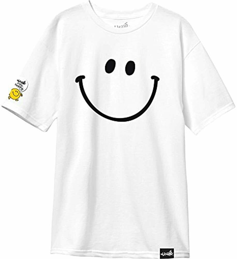 Cliche Skateboarding Mens Mr Men Little Miss White Short-Sleeve Shirt NEW