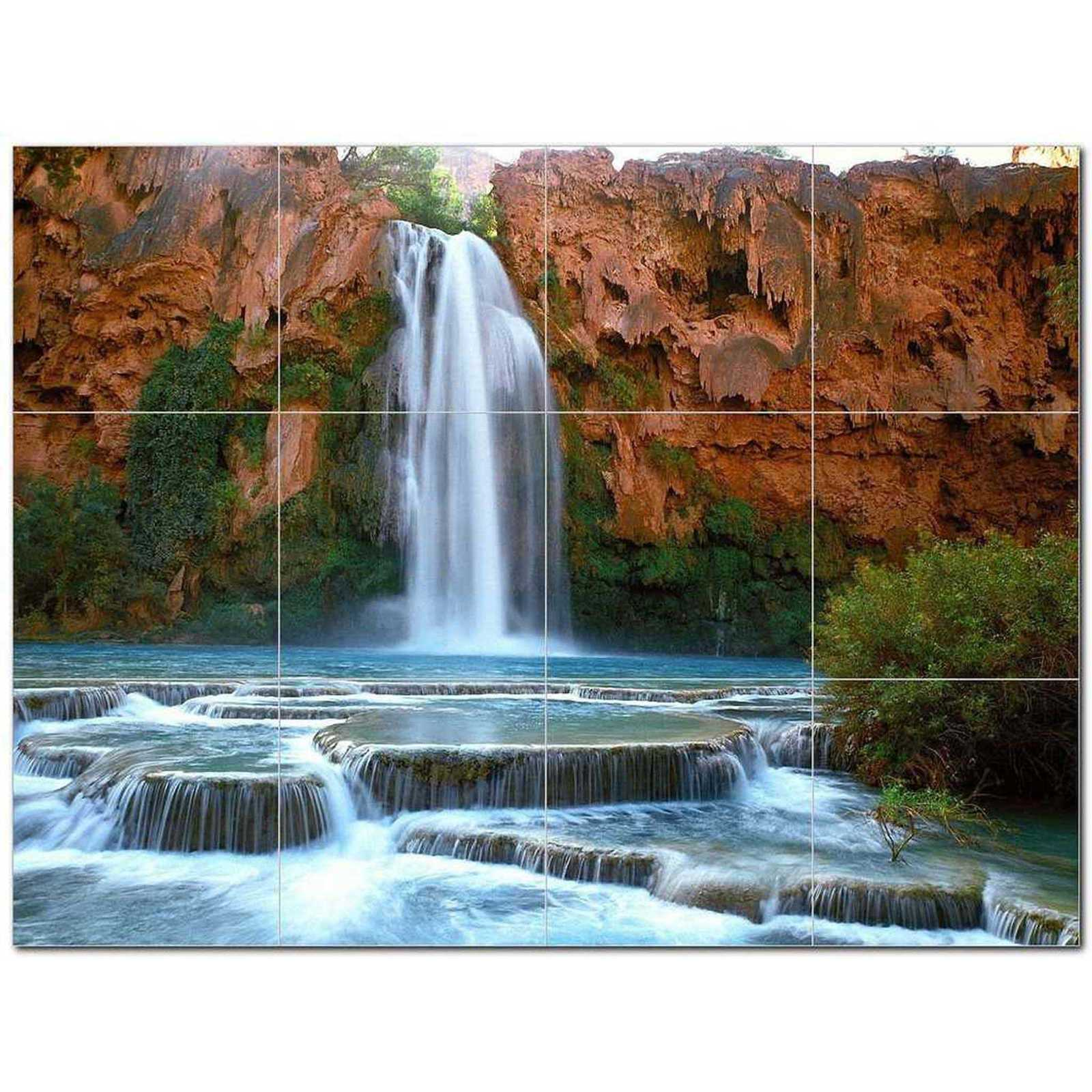 Primary image for Waterfall Picture Ceramic Tile Mural Kitchen Backsplash Bathroom Shower BAZ40616