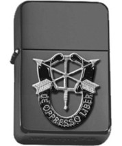 Polished Chrome US Army SPECIAL FORCES Black Lighter  - $14.84