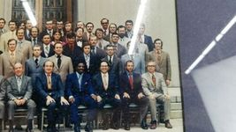 Vintage June 1972 Framed Group Photograph US Attorney Courthouse Lawyer Legal image 6