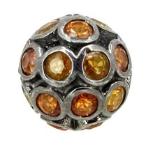 New Sapphire Gemstone Diamond Spacer 925 Sterling Silver Disco Bead Find... - $63.27