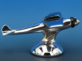 Art Deco Streamline Dollin Diecasters Co. Nickel Plated Airplane Lighter  image 3