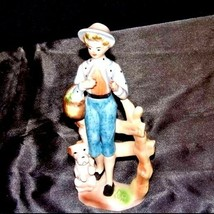 Figurine of Young Girl carrying a basket  (Relco Japan) AA18 - 1117 Vintage image 2