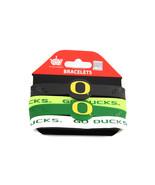NCAA Sports Team Logo Oregon Ducks Silicone Bracelets - 4 Pack - $10.99