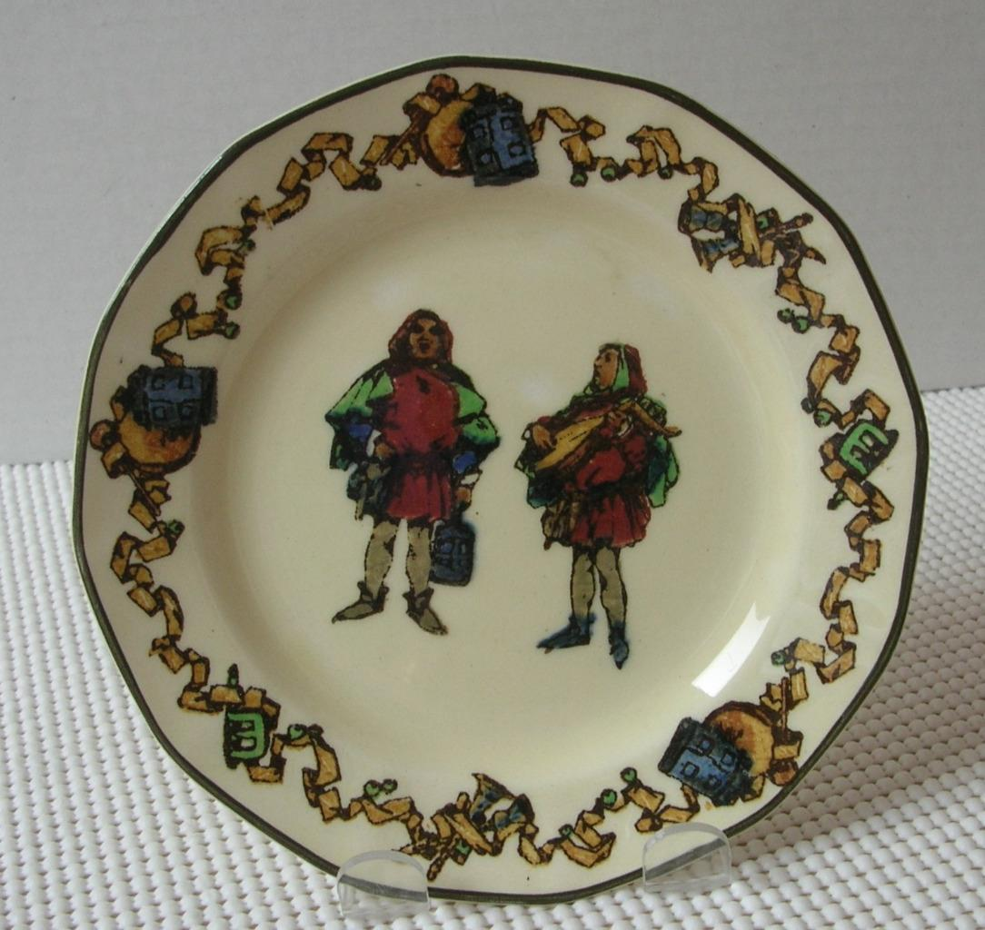 "Primary image for THE MINSTRELS Royal Doulton 6 1/2"" BREAD & BUTTER SIDE PLATE D4243 Early 1900's"