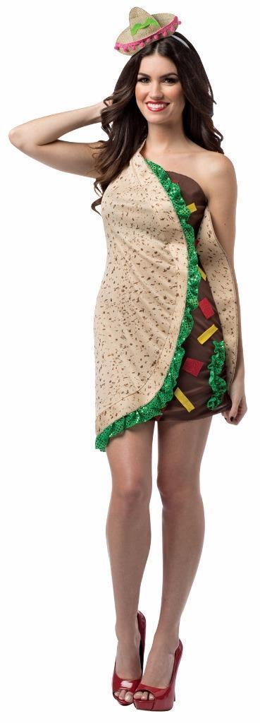 Taco Foodie Dress Costume Food Halloween Party Unique Cheap GC7627