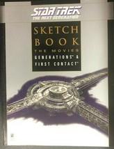 Star Trek Sketchbook The Next Generation (1998) Pocket Books Illustrated Sc 1st - $14.84
