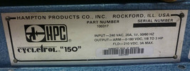 HAMPTON PRODUCTS HPC 100317 CYCLETROL 150 CONTROLLER REPAIRED image 2