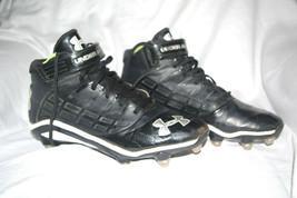 Under Armour Men's sports Cleats Performance Footwear YYII-S1 Sz M10 Black  - $13.84