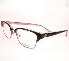 Lilly Pulitzer Eyeglasses Lexington Black Women Metal Plastic Frames 49-16-130 - $98.96
