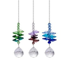 LONGSHENG Crystal Suncatchers Chandelier Hanging Pendant Ornament Windows Christ - $13.08