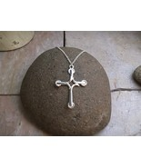 """Sprouting Cross Pendant - Sterling Silver Pendant on 18"""" Sterling Silver... - $65.00"""