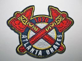 """Atlanta Braves~Est. 1876~Embroidered PATCH~@ 3""""x 3""""~Iron Sew~MLB~Ships FREE - $4.95"""