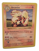 Pokemon Card - Arcanine (23/102) 1999 WOTC SHADOWLESS BASE SET UNCOMMON ... - $4.99