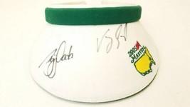 2005 Masters Golf Visor Signed by Nick Faldo & Vijay Singh Texace Made in USA image 1