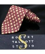 Robert Talbott Best Studio Silk Bright Red USA Dapper Suit Fashion Tie - $29.93