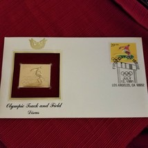 Olympic Track and Field - discus - First day issue Gold Stamp - $3.71