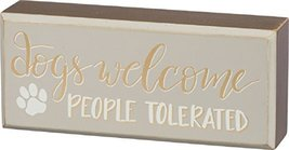 Primitives by Kathy Box Sign - Dogs Welcome - $9.40